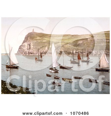 Photochrom of Port Erin, Isle of Man, England - Royalty Free Historical Stock Photography by JVPD