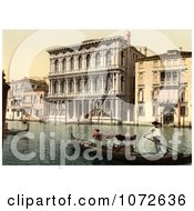 Photochrom Of Rezzonico Palace Venice Italy Royalty Free Historical Stock Photography by JVPD
