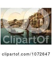 Photochrom Of Rialto Bridge Venice Italy Royalty Free Historical Stock Photography