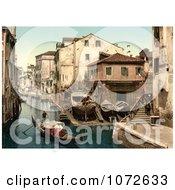 Photochrom Of Rio Della Botisella Venice Italy Royalty Free Historical Stock Photography by JVPD