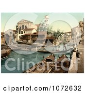 Photochrom Of Rio Di San Trovaso Venice Italy Royalty Free Historical Stock Photography by JVPD