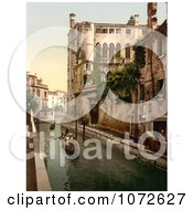 Photochrom Of Rio San Trovaso Venice Royalty Free Historical Stock Photography