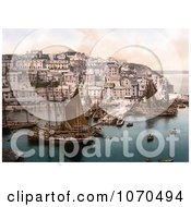 Photochrom Of Sailboats At Brixham Devon England United Kingdom Royalty Free Historical Stock Photography by JVPD