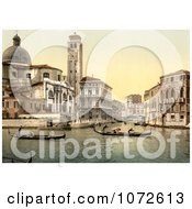 Photochrom Of San Geremia Church Venice Italy Royalty Free Historical Stock Photography by JVPD