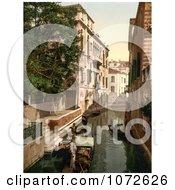 Photochrom Of San Marina Canal Venice Italy Royalty Free Historical Stock Photography by JVPD