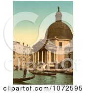 Photochrom Of San Simeone Piccolo Venice Italy Royalty Free Historical Stock Photography by JVPD