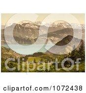 Photochrom Of Scheidegg Switzerland Royalty Free Historical Stock Photography