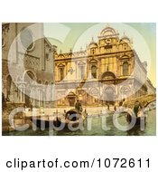 Photochrom Of Scuola Di San Marco Venice Italy Royalty Free Historical Stock Photography by JVPD