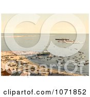 Photochrom Of Ships Sandbar And Pier Heligoland Germany Royalty Free Historical Stock Photo by JVPD