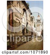 Photochrom Of Sidi Ben Ziad Tunisia Royalty Free Historical Stock Photo by JVPD