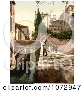 Photochrom Of St Christopher Canal Venice Italy Royalty Free Historical Stock Photography