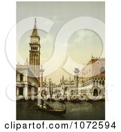 Photochrom Of St MarkS Place Venice Italy Royalty Free Historical Stock Photography by JVPD