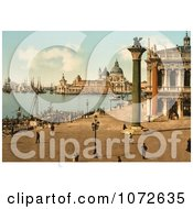 Photochrom Of St Marks Venice Italy Royalty Free Historical Stock Photography by JVPD