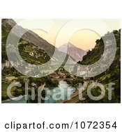 Photochrom Of St Maurice Switzerland Royalty Free Historical Stock Photography by JVPD