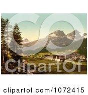 Photochrom Of St Moritz In Engadine Grisons Switzerland Royalty Free Historical Stock Photography