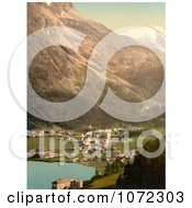 Photochrom Of St Moritz Switzerland Royalty Free Historical Stock Photography by JVPD