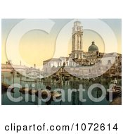 Photochrom Of St PeterS Church Venice Italy Royalty Free Historical Stock Photography by JVPD