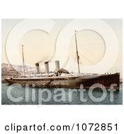 Photochrom Of Steamship Normannia Algiers Royalty Free Historical Stock Photography by JVPD