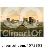 Photochrom Of Stonehenge In Salisbury England Royalty Free Historical Stock Photography by JVPD