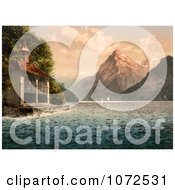 Photochrom Of TellS Chapel On Lake Lucerne Royalty Free Historical Stock Photography