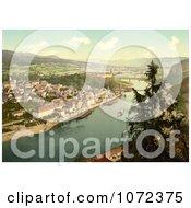Photochrom Of Tetschen Bohemian Switzerland Royalty Free Historical Stock Photography by JVPD