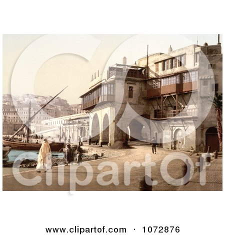 Photochrom of The Admiralty, Algiers, Algeria - Royalty Free Historical Stock Photography by JVPD