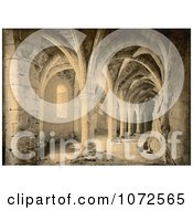 Photochrom Of The Basement Of Chillon Castle In Switzerland Royalty Free Historical Stock Photography