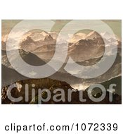 Photochrom Of The Bernese Alps In Switzerland Royalty Free Historical Stock Photography