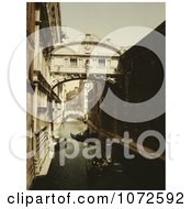 Photochrom Of The Bridge Of Sighs Royalty Free Historical Stock Photography by JVPD