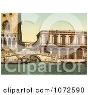 Photochrom Of The Bridge Of Sighs Venice Italy Royalty Free Historical Stock Photography by JVPD
