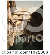 Photochrom Of The Bridge Of Sighs Venice Royalty Free Historical Stock Photography