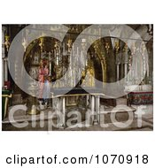 Photochrom Of The Calvary And The Greek Altar The Holy Sepulchre Jerusalem Royalty Free Historical Stock Photo by JVPD