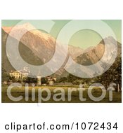 Photochrom Of The Chateau De Werra In Switzerland Royalty Free Historical Stock Photography