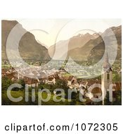 Photochrom Of The City Of Altdorf In Swtizerland Royalty Free Historical Stock Photography by JVPD