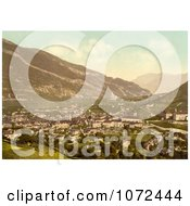 Photochrom Of The Cityscape Of Chur In Switzerland Royalty Free Historical Stock Photography