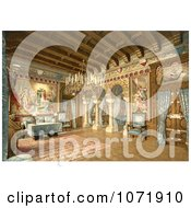 Photochrom Of The Drawing Room In Neuschwanstein Castle Royalty Free Historical Stock Photo