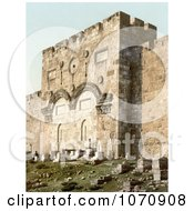 Photochrom Of The Golden Gate Gate Of Mercy Gate Of Eternal Life And Beautiful Gate Jerusalem Royalty Free Historical Stock Photo by JVPD