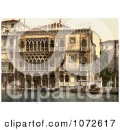 Photochrom Of The Golden House Venice Italy Royalty Free Historical Stock Photography