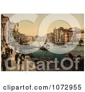 Photochrom Of The Grand Canal Royalty Free Historical Stock Photography