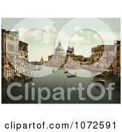 Photochrom Of The Grand Canal Venice Italy Royalty Free Historical Stock Photography