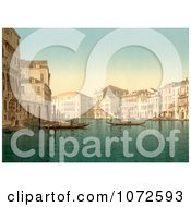 Photochrom Of The Grand Canal Venice Italy Royalty Free Historical Stock Photography by JVPD