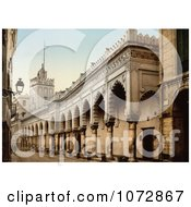 Photochrom Of The Great Mosque Arcade Algiers Algeria Royalty Free Historical Stock Photography