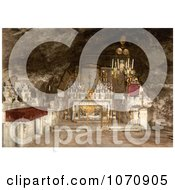 Photochrom Of The Grotto Of The Agony Jerusalem Royalty Free Historical Stock Photo by JVPD