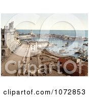 Photochrom Of The Harbor Of Algiers Algeria Royalty Free Historical Stock Photography by JVPD