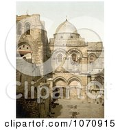 Photochrom Of The Holy Sepulchre Jerusalem Israel Royalty Free Historical Stock Photo by JVPD