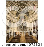 Photochrom Of The Interior Of Jesuits Church Venice Royalty Free Historical Stock Photography by JVPD