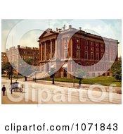 Photochrom Of The Massachusetts Institute Of Technology Boston Royalty Free Historical Stock Photo
