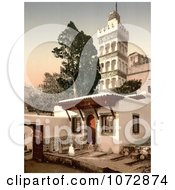 Photochrom Of The Mosque Of Abder Rhaman Algiers Algeria 1899 Royalty Free Historical Stock Photography