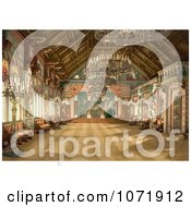 Photochrom Of The Music Room At Neuschwanstein Castle Royalty Free Historical Stock Photo