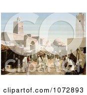 Photochrom Of The Muslim City Of Kairouan Kairwan Kayrawan Al Qayrawan Royalty Free Historical Stock Photography by JVPD